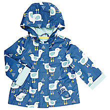 Buy John Lewis Baby Bird Print Mac, Blue/Multi Online at johnlewis.com