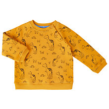 Buy John Lewis Baby Dinosaur Print Sweatshirt, Yellow Online at johnlewis.com