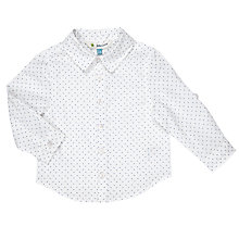 Buy John Lewis Baby Cotton Shirt, White Online at johnlewis.com