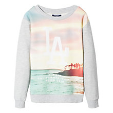 Buy Mango Kids Boys' LA Graphic Print Sweatshirt, Grey/Pastel Online at johnlewis.com