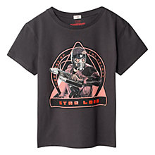 Buy Mango Kids Boys' Guardians of the Galaxy Star Lord T-Shirt, Charcoal Online at johnlewis.com
