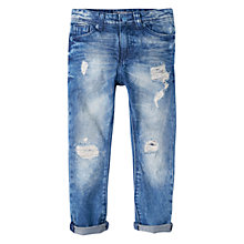 Buy Mango Kids Boys' Vintage Jeans, Open Blue Online at johnlewis.com