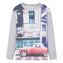 Buy Mango Kids Boys' Sweatshirt, Medium Grey Online at johnlewis.com