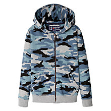 Buy Mango Kids Boys' Camouflage Zip-Through Hoodie, Navy Online at johnlewis.com