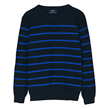 Buy Mango Kids Boys' Striped Sweatshirt, Black Online at johnlewis.com