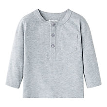 Buy Mango Kids Boys' Long Sleeve T-Shirt, Lt Pastel Grey Online at johnlewis.com