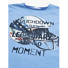 Buy Mango Kids Boys' Touchdown Long Sleeve T-Shirt, Open Blue Online at johnlewis.com