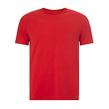 Buy John Lewis Jersey Cotton Crew Neck T-Shirt, Red Online at johnlewis.com