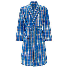 Buy John Lewis Billy Check Cotton Gown, Blue Online at johnlewis.com