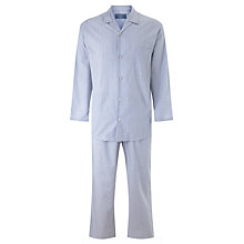Buy John Lewis Dylan Woven Cotton Stripe Pyjamas, Blue Online at johnlewis.com