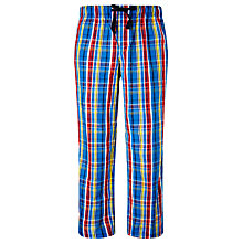 Buy John Lewis Woven Cotton Check Pyjama Bottoms, Multi Online at johnlewis.com