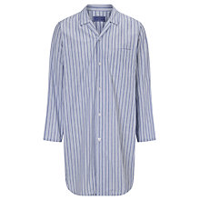 Buy John Lewis Savile Row Irregular Stripe Cotton Nightshirt, Blue/White Online at johnlewis.com