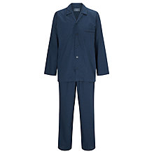 Buy John Lewis Micro Paisley Woven Cotton Pyjamas, Navy Online at johnlewis.com