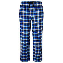 Buy John Lewis Ethan Check Brushed Cotton Lounge Pants, Blue Online at johnlewis.com