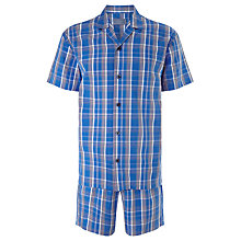 Buy John Lewis Billy Check Short Pyjamas, Blue Online at johnlewis.com