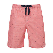 Buy John Lewis Anchor Stripe Lounge Shorts, Red Online at johnlewis.com
