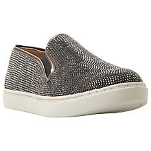 Buy Steve Madden Exsess Embellished Flat Slip On Trainers Online at johnlewis.com