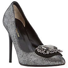 Buy Dune Black Billie Embellished Court Shoes Online at johnlewis.com