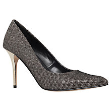 Buy Carvela Goalie High Heeled Stiletto Court Shoes, Black Fabric Online at johnlewis.com