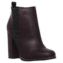 Buy Miss KG Scorpio Block Heeled Ankle Boots, Wine Online at johnlewis.com