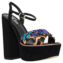 Buy Miss KG Essence Embellished Platform Sandals, Pony Tan Online at johnlewis.com