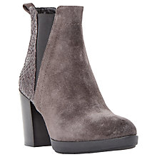 Buy Dune Black Pondo Block Heeled Ankle Boots Online at johnlewis.com