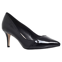 Buy Carvela Aura Mid Heeled Stiletto Court Shoes, Black Patent Online at johnlewis.com