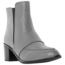 Buy Dune Peeti Leather Loafer Ankle Boots, Grey Online at johnlewis.com