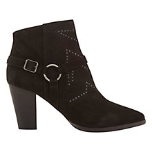 Buy Mint Velvet Cameron Harness Ankle Boot, Black Suede Online at johnlewis.com