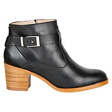 Buy Hobbs Noah Leather Ankle Riding Boot, Black Online at johnlewis.com