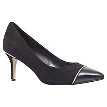 Buy Carvela Alice Mid Heel Leather Court Shoes, Black Online at johnlewis.com