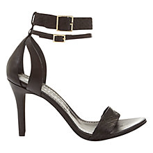 Buy Mint Velvet Eloise Ankle Strap High Heel Sandals, Black Leather Online at johnlewis.com