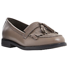 Buy Dune Goosie Flat Fringe Loafers, Taupe Leather Online at johnlewis.com