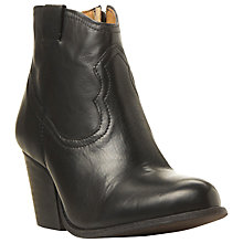 Buy Steve Madden Sogood Block Heeled Western Style Ankle Boots Online at johnlewis.com