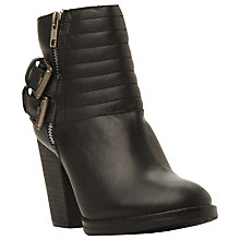 Buy Steve Madden Yakk Buckle Detail Low Ankle Boots, Stone Leather Online at johnlewis.com