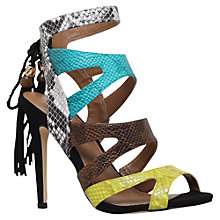Buy Miss KG Forest Tassel Detailed Stiletto Sandals, Green Comb Online at johnlewis.com