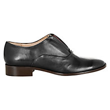 Buy Hobbs Riley Leather Derby Shoes, Black Online at johnlewis.com