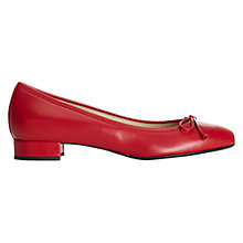 Buy Hobbs Poppy Block Heel Ballerina Pumps, Red Online at johnlewis.com