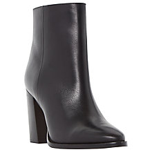 Buy Dune Prestonn High Heeled Ankle Boot, Black Leather Online at johnlewis.com