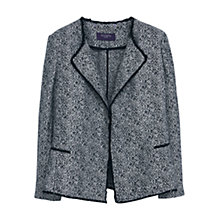 Buy Violeta by Mango Flecked Cotton Blend Jacket, Black Online at johnlewis.com