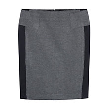 Buy Violeta by Mango Panelled Stripe Straight Skirt, Grey/Black Online at johnlewis.com
