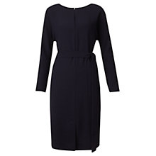 Buy Jigsaw Belted V-Neck Dress, Navy Online at johnlewis.com