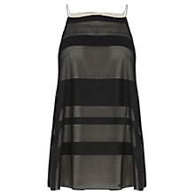 Buy Warehouse Textured Stripe Camisole Top, Black Online at johnlewis.com