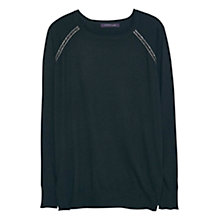 Buy Violeta by Mango Wool-Blend Jumper, Black Online at johnlewis.com