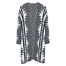 Buy Violeta by Mango Textured Cotton Cardigan, Black Online at johnlewis.com
