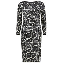 Buy Gina Bacconi Jersey Skin Print Dress, Black/Ivory Online at johnlewis.com