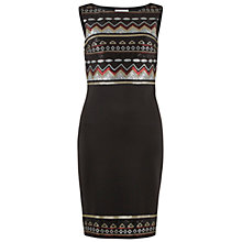 Buy Gina Bacconi Aztec Sequin Dress, Black/Red Online at johnlewis.com
