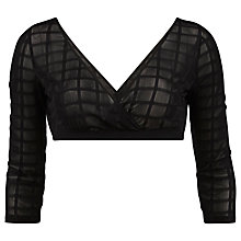 Buy Gina Bacconi Square Design Mesh Sleeve Undergarment, Black Online at johnlewis.com