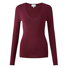 Buy Jigsaw Silk Blend V-Neck Jumper Online at johnlewis.com