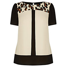 Buy Oasis Animal Blocked T-Shirt Top, Multi Online at johnlewis.com